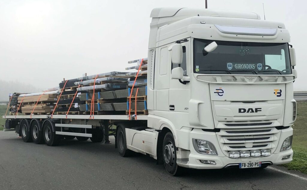 camion, plateau, transport,